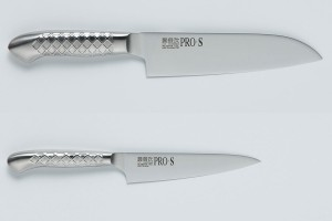 Set of knives Kanetsugu 5003 Santoku & Kanetsugu 5001 Petty. Stainless steel. Japan