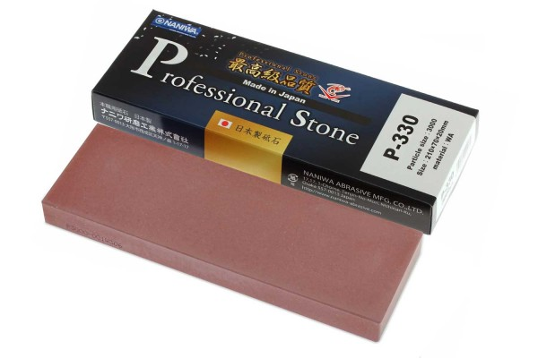 NANIWA P-330 - Professional ceramic whetstone #3000, 210x70x20 mm, Japan