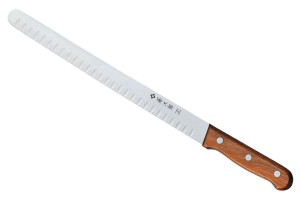 Tojiro F-816 - Salmon Knife from MoV Steel, 300 mm blade with dimples, Japan