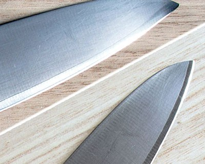 Repair tip and sharpening of the classic Chef knife Tojiro DP F-808