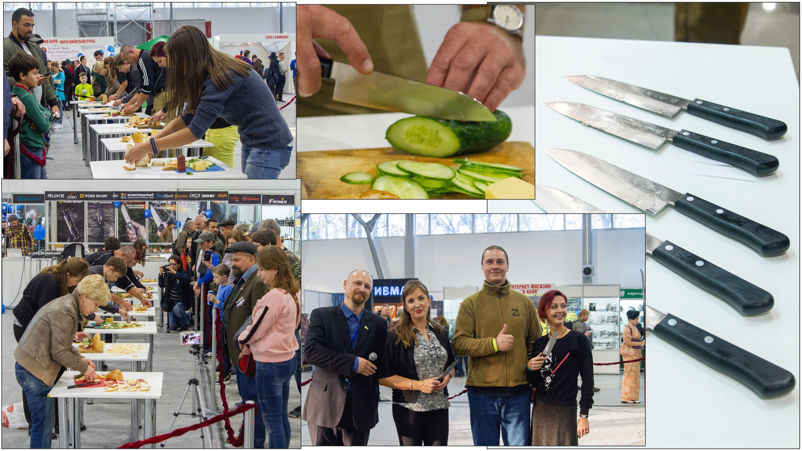 Culinary competition at the exhibition Steel Edge, in which participants use Santoku from Seki Kanetsugu