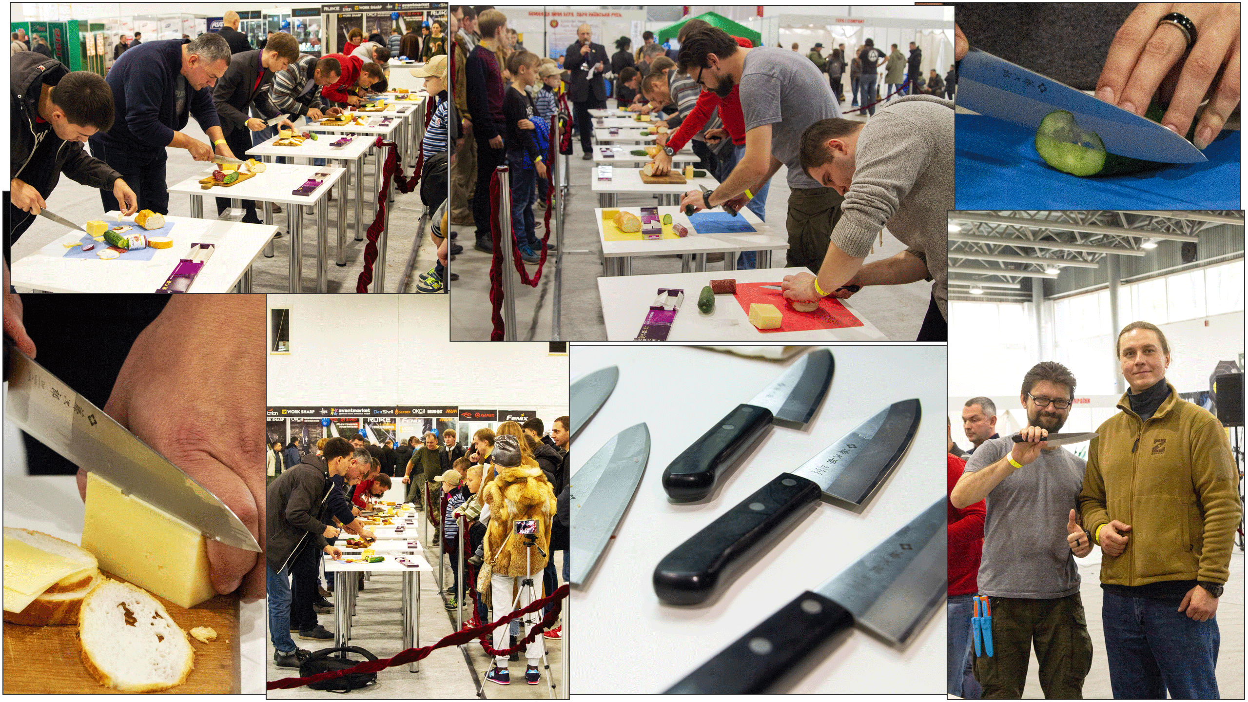 Culinary competition at the exhibition Steel Edge, in which participants use Chef knife from Tojiro